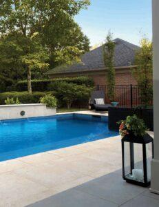 Pools Surround Application with 24x24 inch Fusa Luna Porcelain Pavers