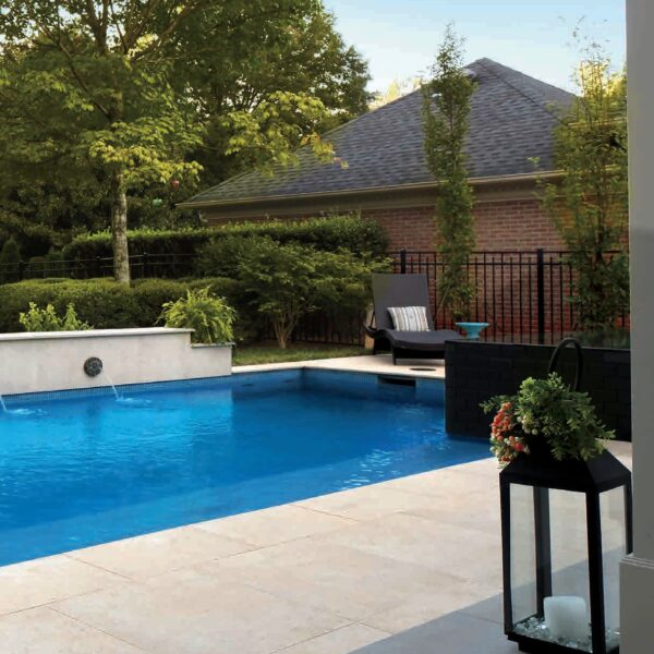 Pools Surround Application with 24x24 inch Fusa Luna Porcelain Pavers