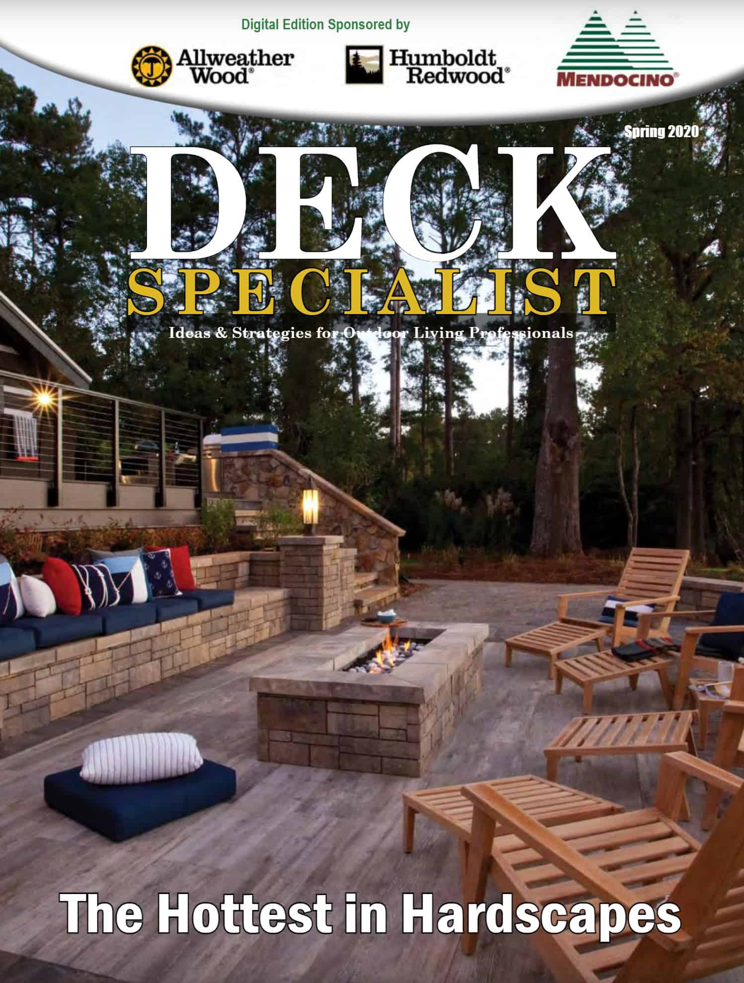 Deck Specialist Cover features Product Review on DuxxBak Decking from Green Bay Decking