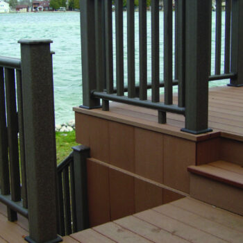 DuxxBak Decking with Stairs and Rail Detail