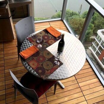 Portland Balcony made with Black Locust Deck Tiles