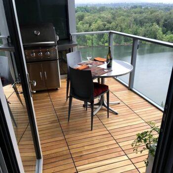 Portland Residential Balcony Using Black Locust Deck Tiles