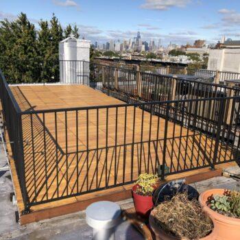 Rooftop Deck with HDG Black Locust Deck Tiles over Buzon Pedestals