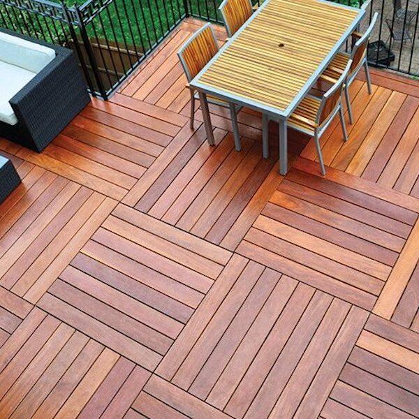 Cumaru Deck Tiles Alternative to Ipe Hardwood Pavers