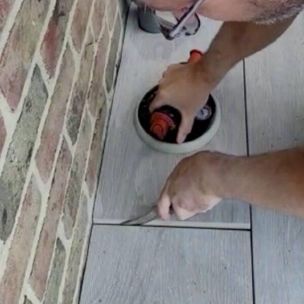 Installing Edge of Porcelain Paver Over HDG Aluminum Joist