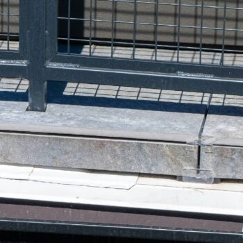 PB-END used to Create Porcelain Paver Facade at Edge of Rooftop Deck