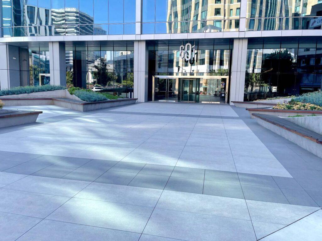 Innovative Pedestal Paver Solution Uses Buzon Pedestals Grating Panels and Porcelain Pavers