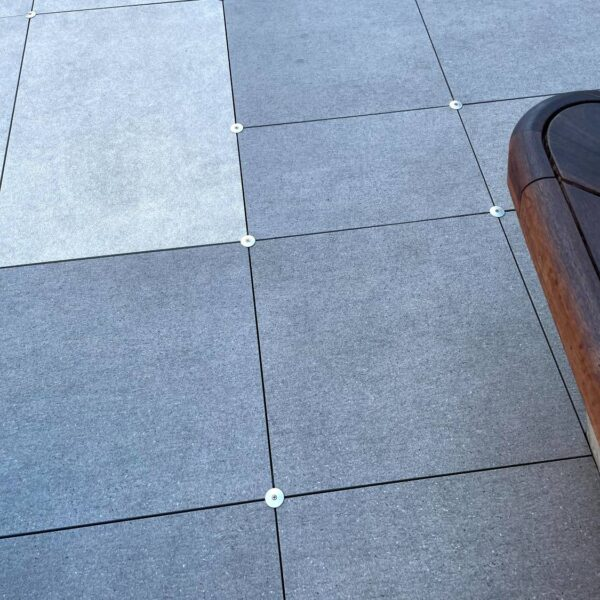 Wind Uplift Solution for Pavers Mounted on Pedestals